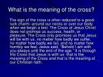 what is the meaning of the cross
