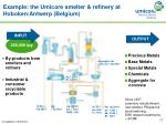 example the umicore smelter refinery at hoboken antwerp belgium