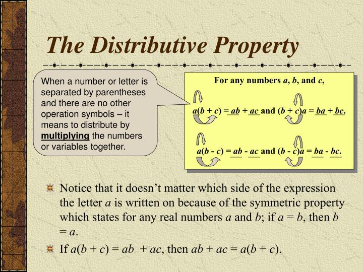 The distributive property3