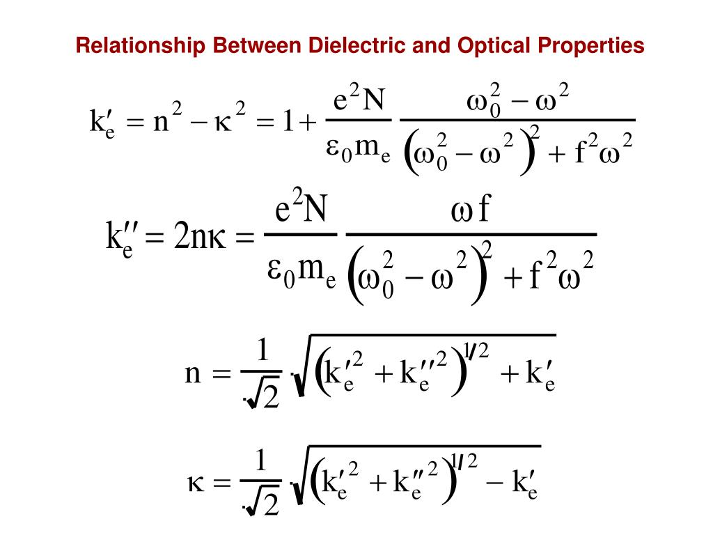 Relationship Between Dielectric and Optical Properties
