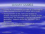 binary codes11