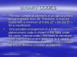 binary codes18