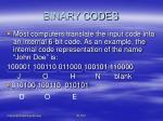 binary codes19