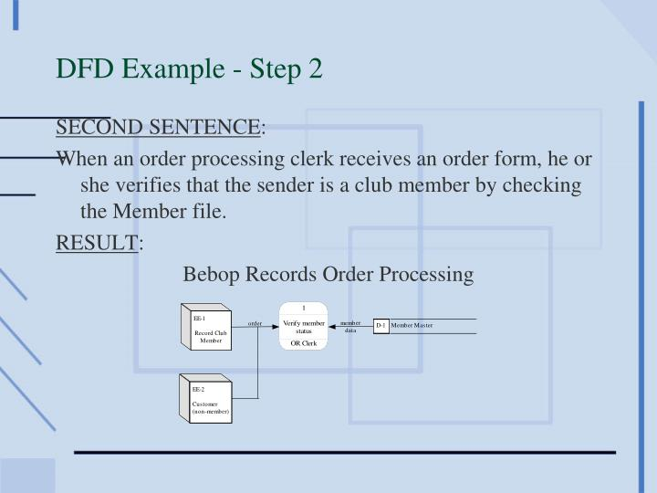 DFD Example - Step 2
