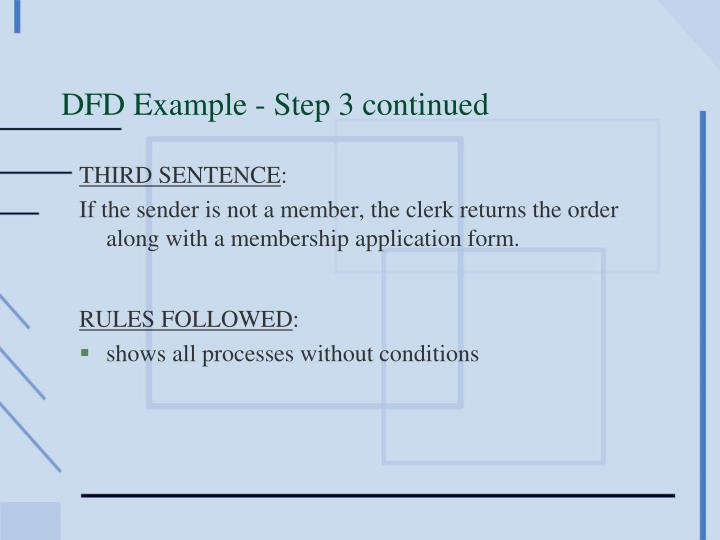 DFD Example - Step 3 continued