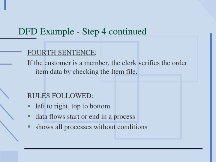 DFD Example - Step 4 continued