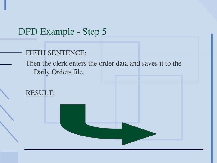 DFD Example - Step 5