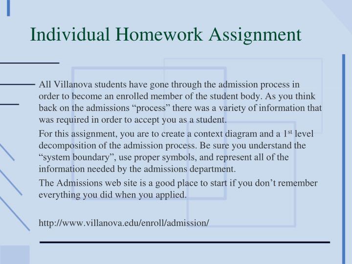 Individual Homework Assignment
