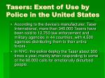 tasers exent of use by police in the united states