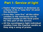 part 1 service of light