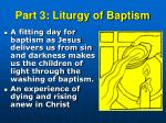 part 3 liturgy of baptism