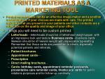 printed materials as a marketing tool