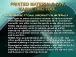 printed materials as a marketing tool27