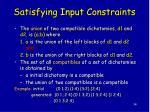 satisfying input constraints1