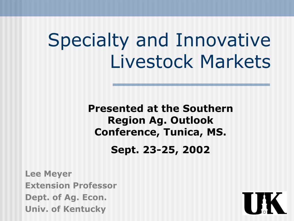 specialty and innovative livestock markets l.