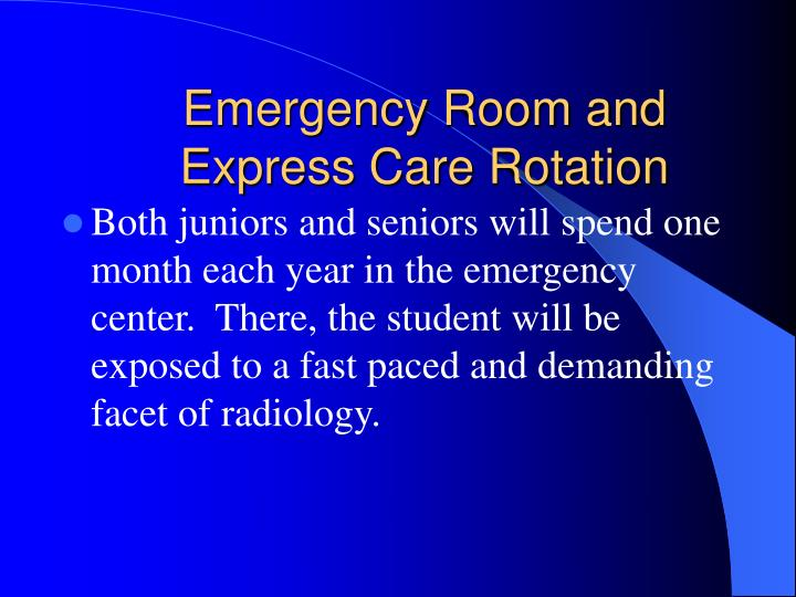 Emergency Room and Express Care Rotation