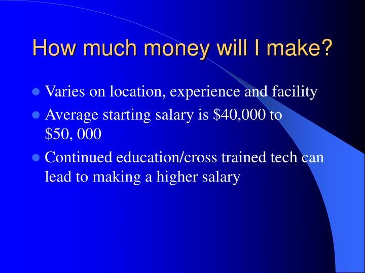 How much money will I make?