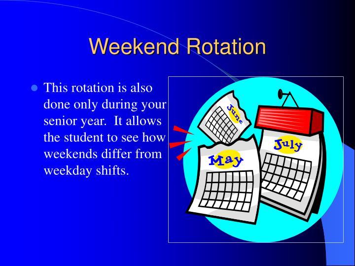 Weekend Rotation