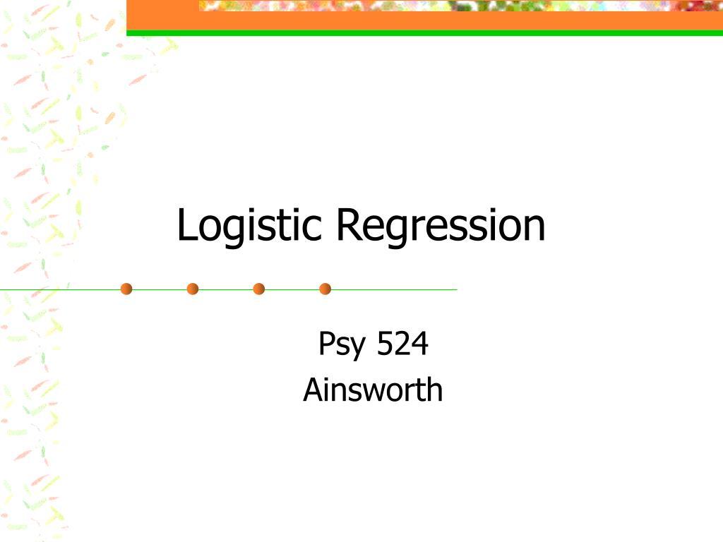 logistic regression l.