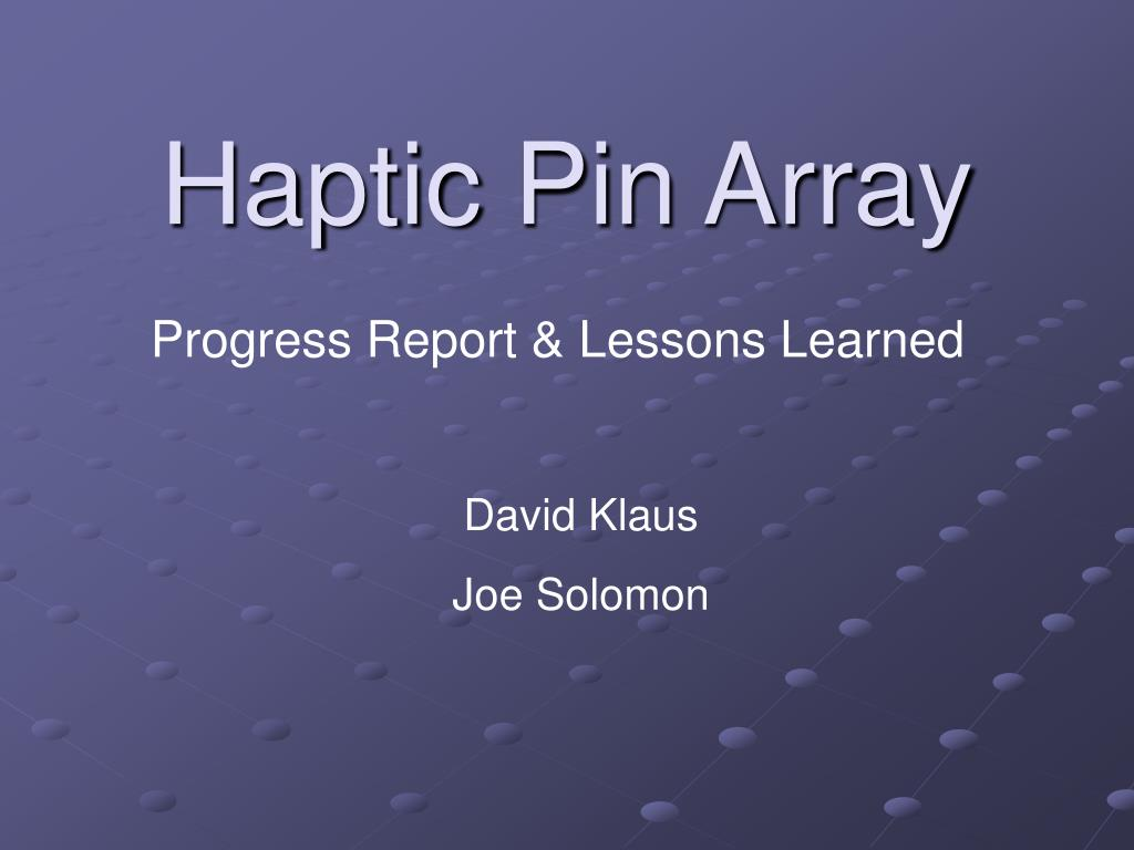 haptic pin array l.