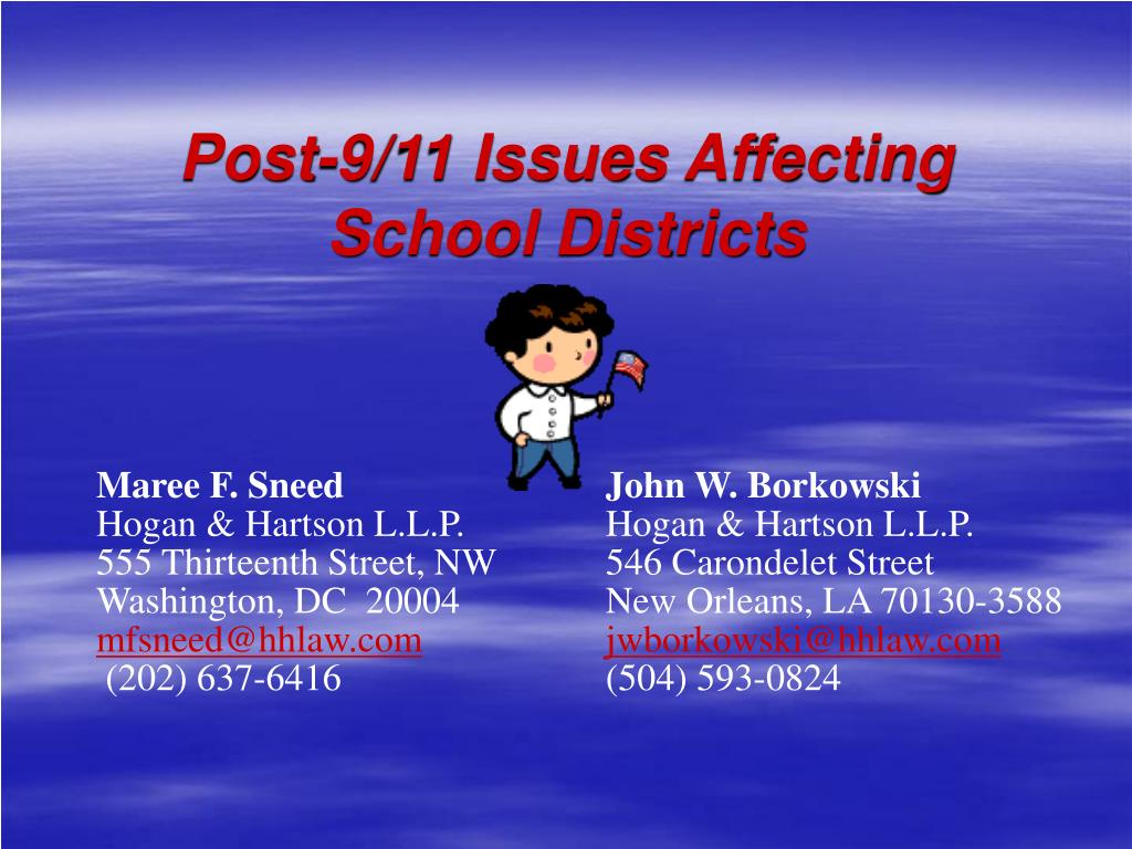 post 9 11 issues affecting school districts l.