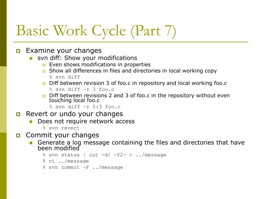 Basic Work Cycle (Part 7)