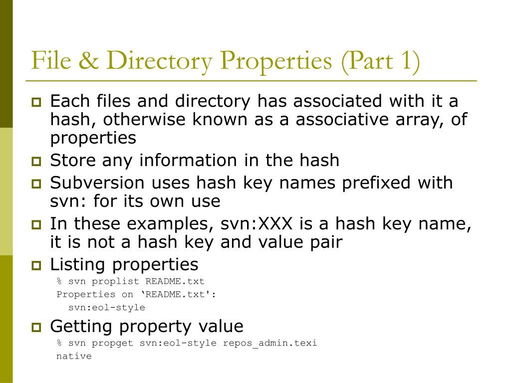 File & Directory Properties (Part 1)