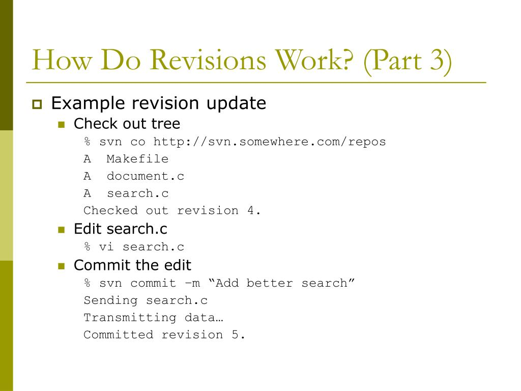 How Do Revisions Work? (Part 3)