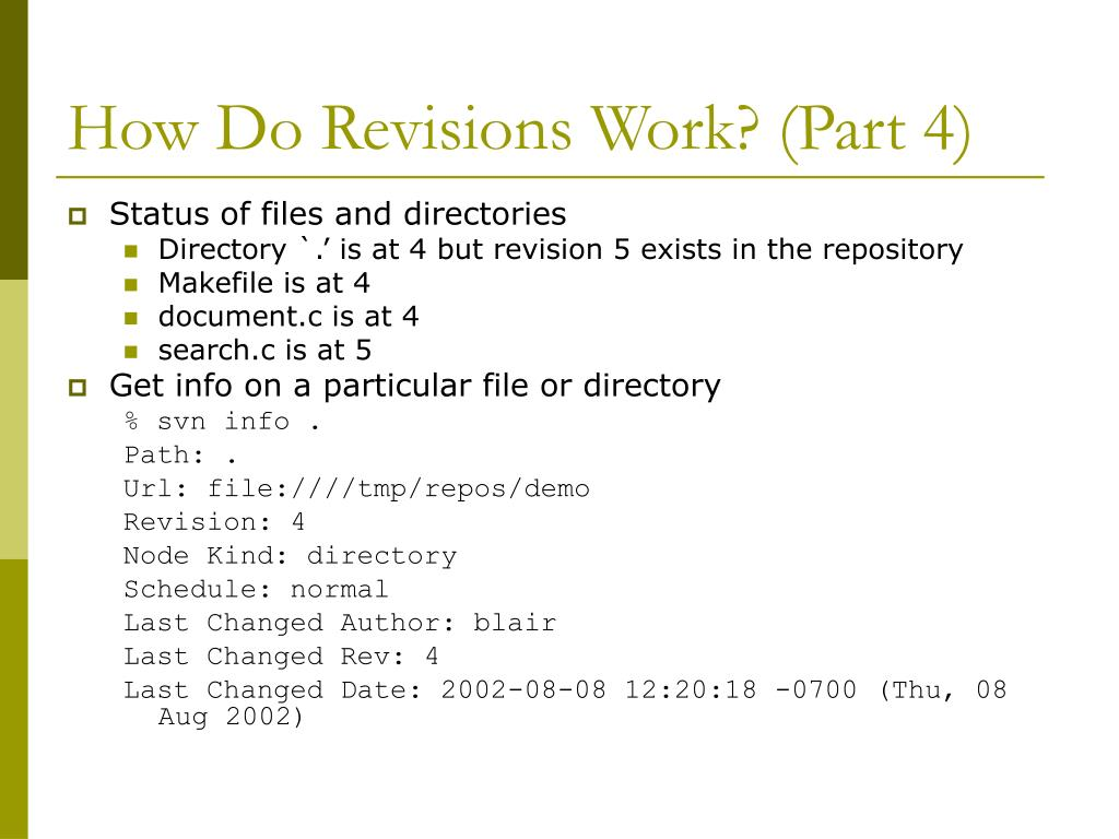 How Do Revisions Work? (Part 4)