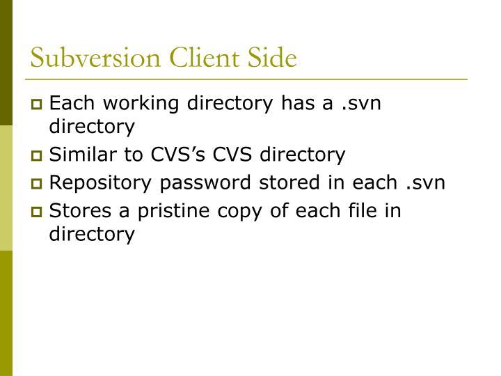Subversion client side