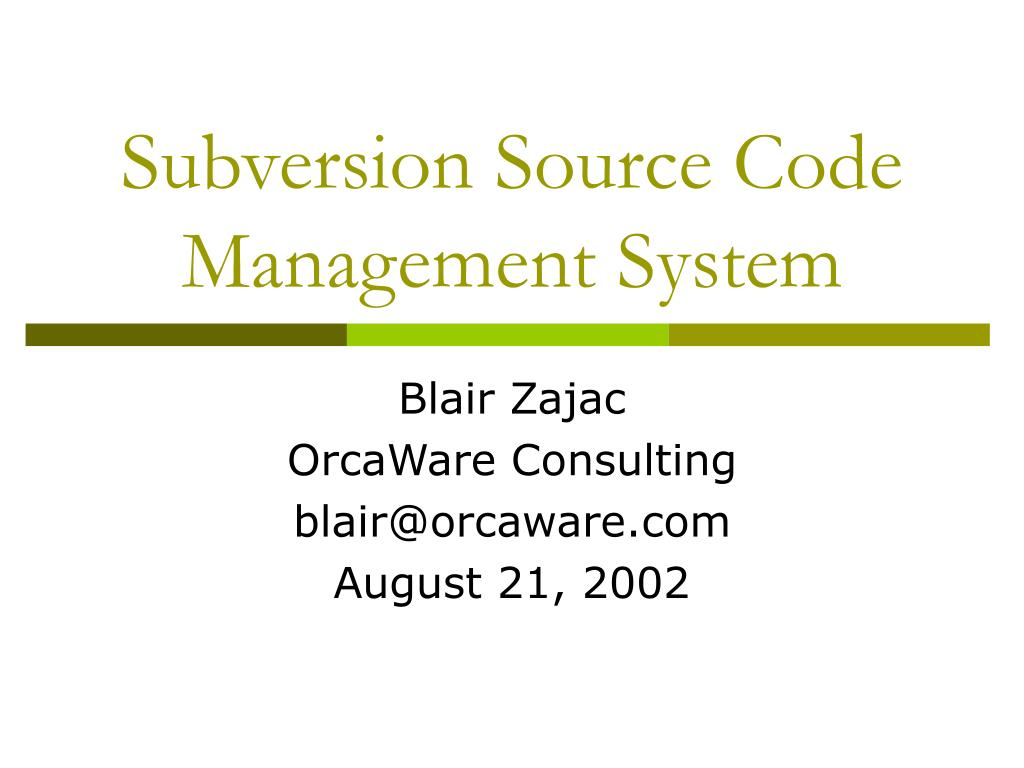 subversion source code management system l.