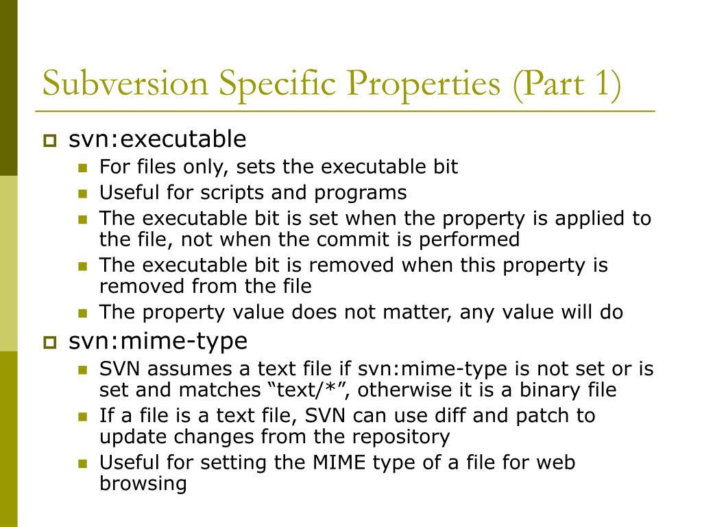 Subversion Specific Properties (Part 1)