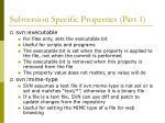 subversion specific properties part 1