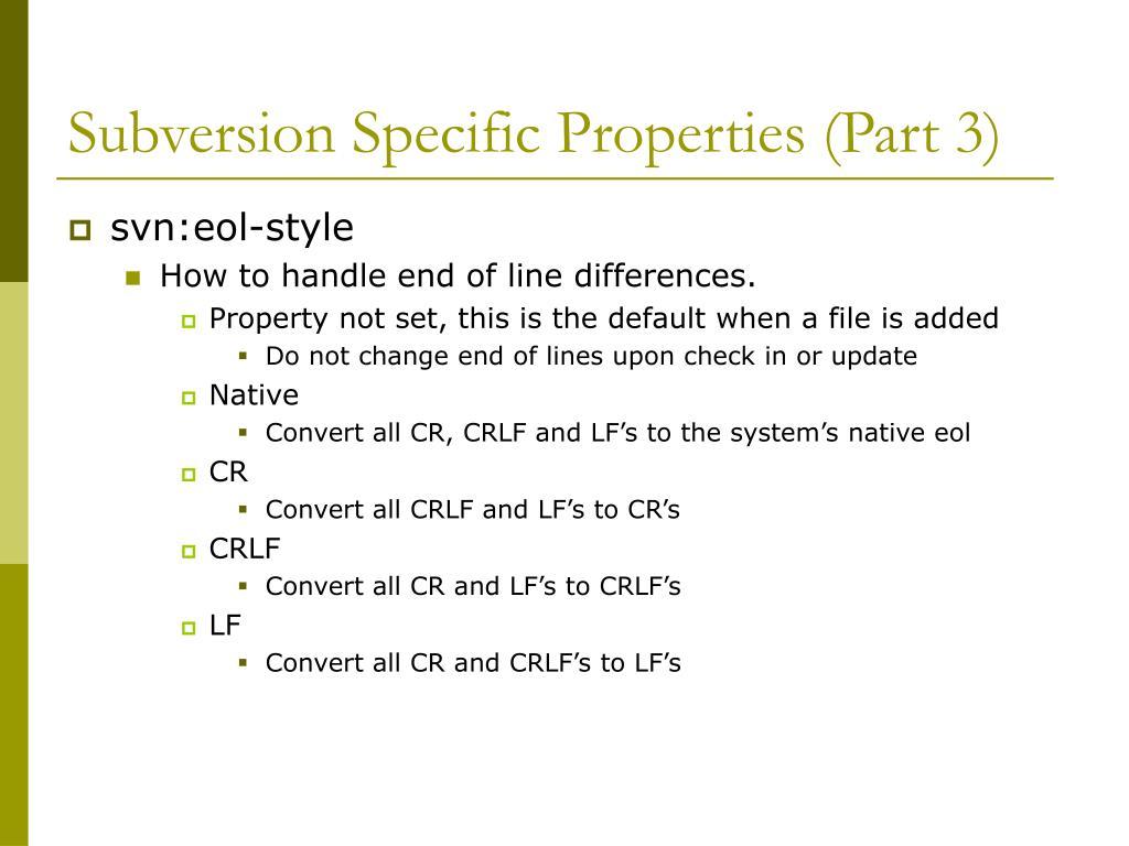 Subversion Specific Properties (Part 3)