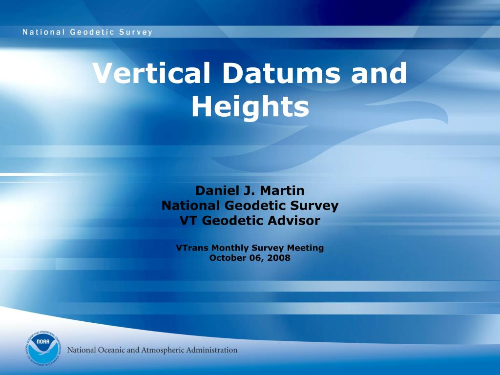 vertical datums and heights l.