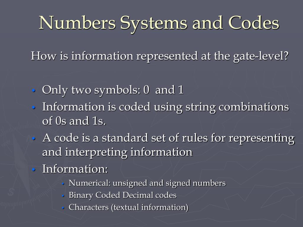 Numbers Systems and Codes