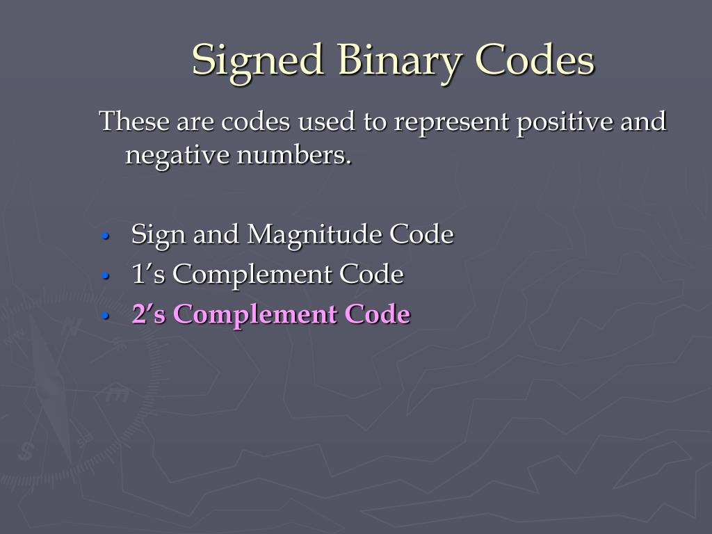 Signed Binary Codes
