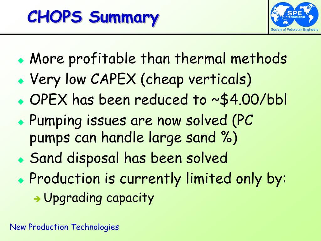 CHOPS Summary
