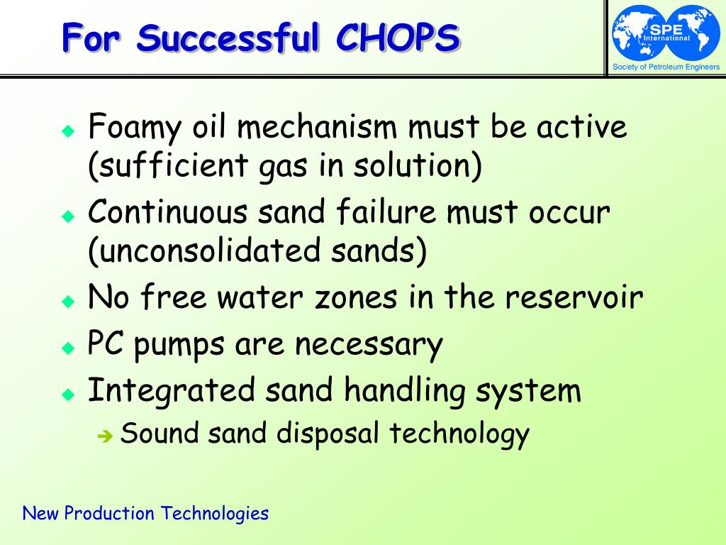 For Successful CHOPS