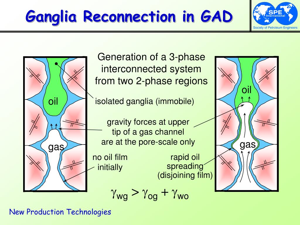 Ganglia Reconnection in GAD