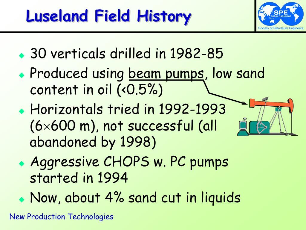 Luseland Field History