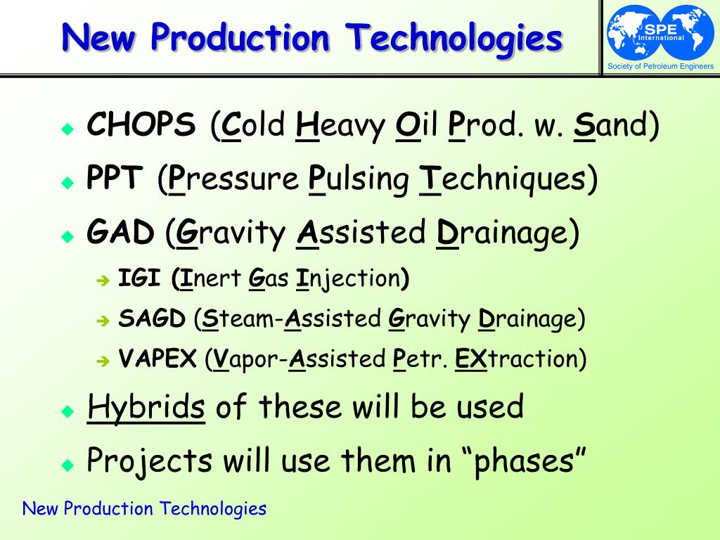 New Production Technologies