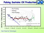 pulsing sustains oil production