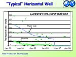 typical horizontal well