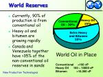 world reserves