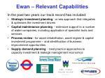 ewan relevant capabilities