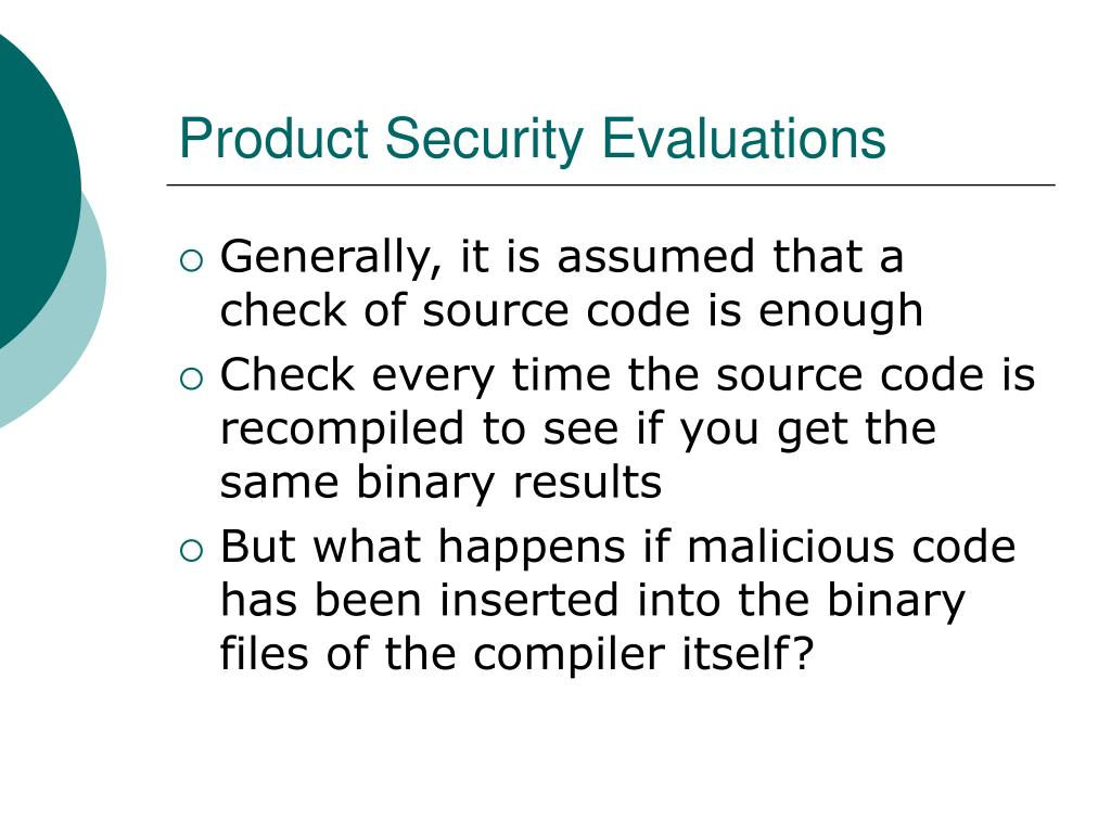 Product Security Evaluations