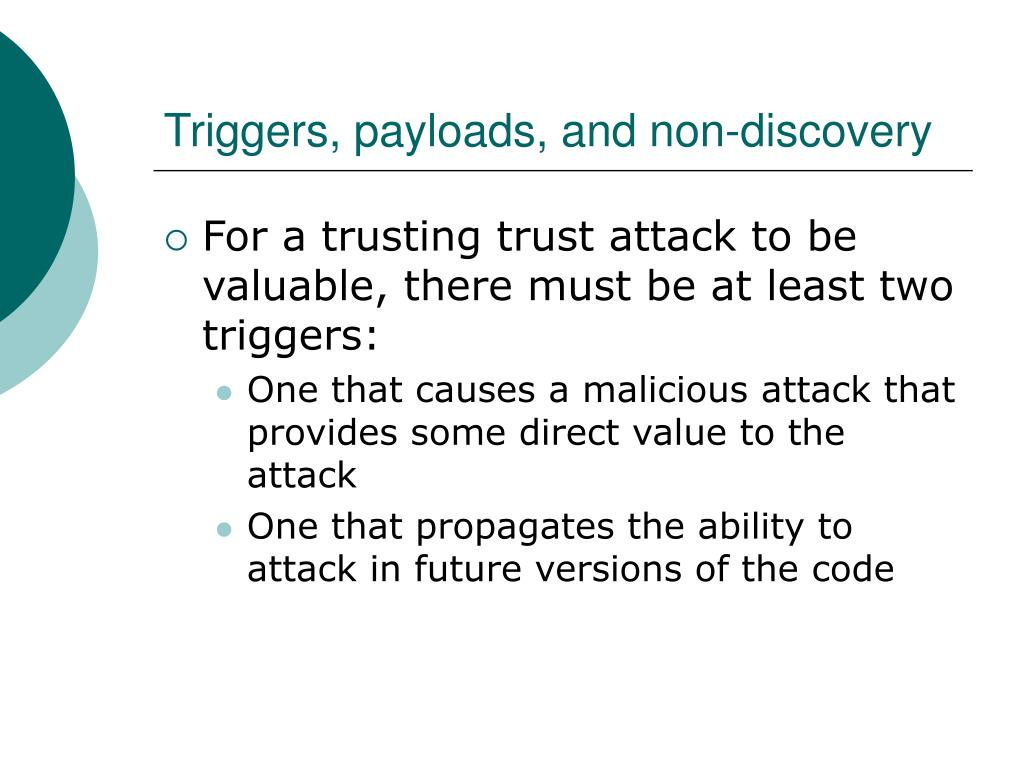 Triggers, payloads, and non-discovery