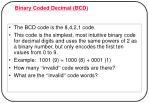 binary coded decimal bcd
