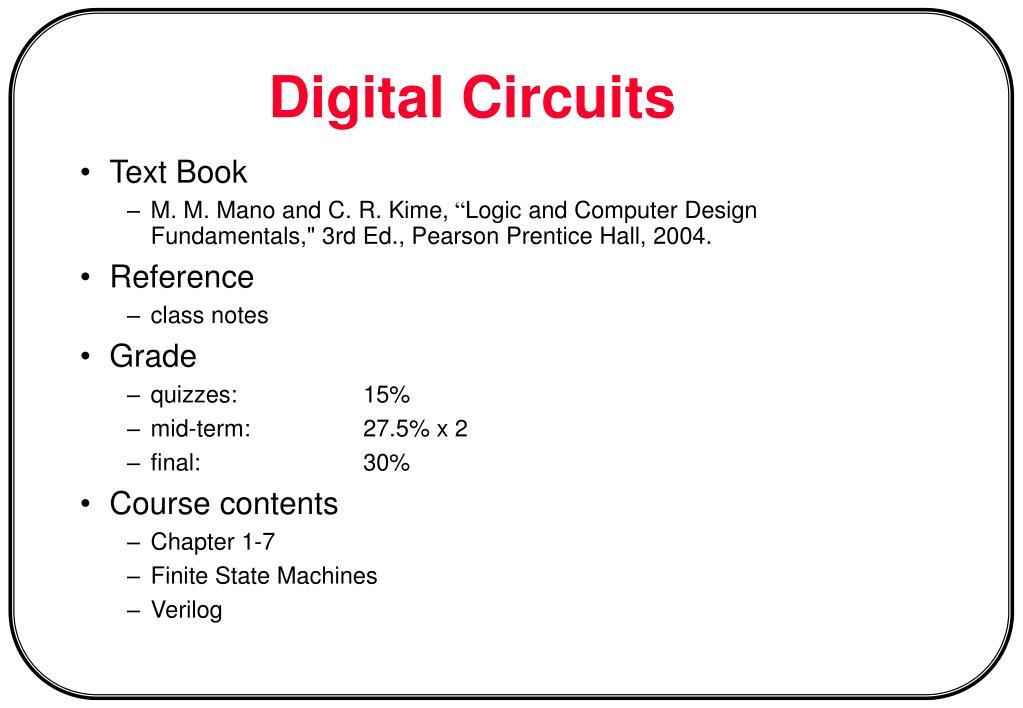 digital circuits l.